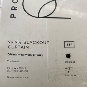 Project 62 Accents - Project 62 Khaki 63 inch Blackout Panel